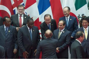 Secretário-geral da ONU, Ban Ki-moon, na cúpula do G-20 na China. Foto: ONU/Eskinder Debebe