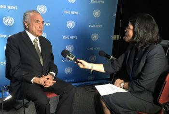 Michel Temer em entrevista concedida à Rádio ONU. Foto: Rádio ONU