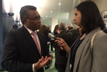Entrevista com Rui Maria de Araújo. Foto: Rádio ONU