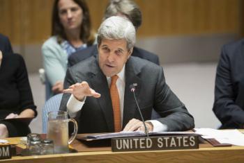 John Kerry em reunião no Conselho de Segurança. Foto: ONU/Manuel Elias