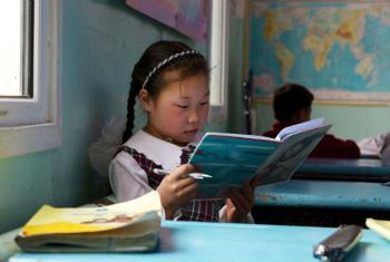 """Segundo o chefe da ONU, a alfabetização """"está no coração da Agenda 2030"""".Foto: Banco Mundial/Khasar Sandag"""