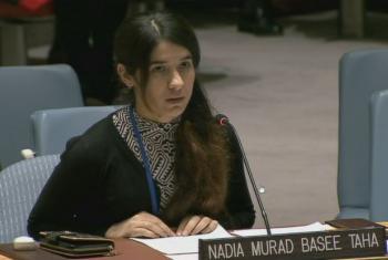 Nadia Murad. Foto: Reprodução ONU TV