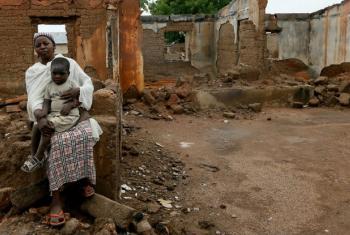 Casas foram destruidas. Foto: © UNHCR/George Osodi