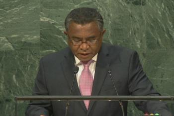 Rui Maria de Araújo discursa na 71a sessão da Assembleia Geral da ONU. Foto: Reprodução vídeo Webcast ONU