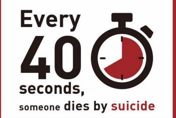 Uma bomba relógio: 1 suicídio a cada 40 segundos. Imagem: OMS/WHO