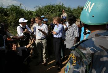 Membros do Conselho de Segurança durante visita ao Sudão do Sul. Foto: Unmiss/Eric Kanalstein