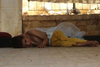 Com a falta de água potável e de comida, na Síria, o número de pessoas que precisam de assistência médica deve aumentar nos próximos dias.Foto: Unicef/Khuder Al-Issa