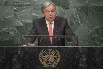 António Guterres discursa na Assembleia Geral das Nações Unidas. Foto: ONU/Cia Pak