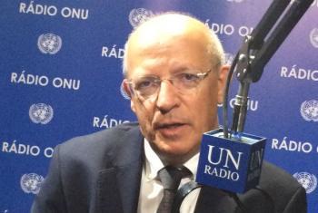 Augusto Santos Silva em entrevista à Rádio ONU. Foto: Rádio ONU