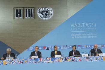 Conferência das Nações Unidas sobre Habitação e Desenvolvimento Urbano Sustentável, em Quito, Equador.Foto: ONU/Eskinder Debebe