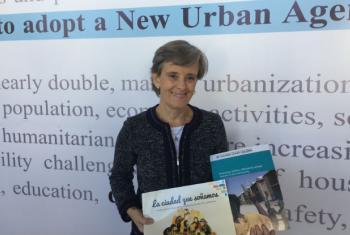 Marta Santos Pais na Conferência das Nações Unidas sobre Urbanização e Desenvolvimento Urbano Sustentável, Habitat III.Foto: Rádio ONU/Laura Gelbert