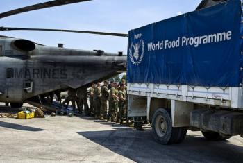 PMA entrega ajuda alimentar no Haiti. Foto: Minustah/Frederic Fath