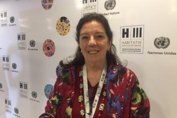 Patricia Chaves diz que mulheres têm de ser incluídas no planejamento. Foto: Laura Gelbert, ONU.