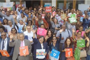 Funcionários da ONU em Moçambique.