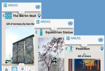 Imagem: reprodução aplicativo UN Visitor Centre