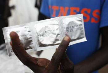 Estima-se que a lacuna de preservativos na África Subsaariana é de mais de 3 mil milhões de unidades.Foto: Unaids