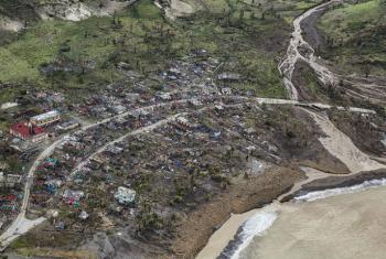 Vista aérea de região do Haiti afetada pela passagem do furacão Matthew. Foto: Minustah/Logan Abassi