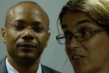 Joseph Ribeiro e Cate Turton. Imagens: Rádio ONU