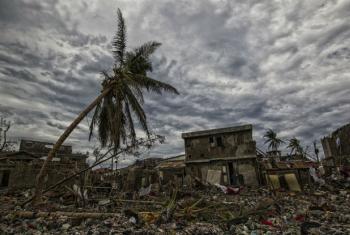 Destruição no Haiti após a passagem do furacão Matthew. Foto: Minustah/ Logan Abassi