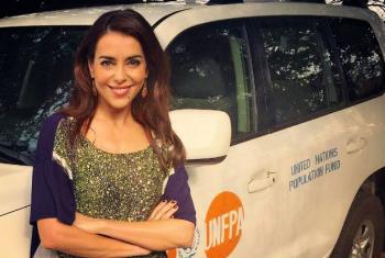 Embaixadora de Boa Vontade do Unfpa, Catarina Furtado. Foto: Unfpa