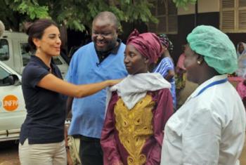 A Embaixadora de Boa Vontade Catarina Furtado. Foto: Unfpa