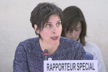 Relatora especial para o direito à habitação, Leilani Farha. Imagem: Unifeed