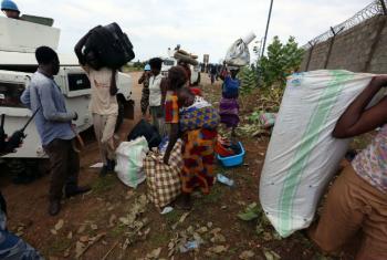 Deslocados internos que procuraram refúgio e proteção com a Unmiss. Foto: Unmiss/Eric Kanalstein (arquivo)