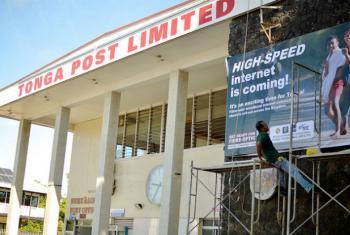 Rede postal em Tonga. Foto: Banco Mundial/Tom Perry (arquivo)