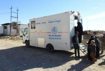 Clínica móvel em cidade iraquiana. Foto: OMS Iraque (arquivo)