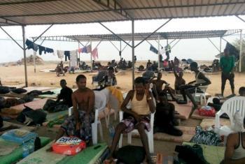 Migrantes etíopes retornados do Iémen para o Djibouti. Foto: OIM 2015 (arquivo)