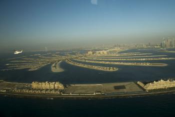 Vista aérea de Dubai, nos Emirados Árabes. Foto: ONU/Eskinder Debebe