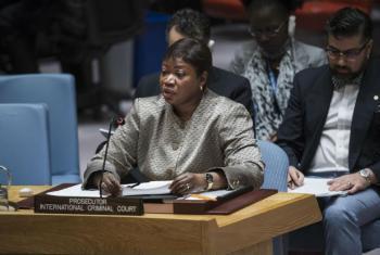 Fatou Bensouda discursa no Conselho de Segurança, nesta terça-feira, 13 de dezembro. Foto: ONU/Amanda Voisard