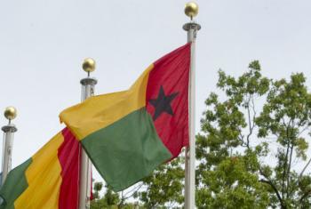 Bandeira da Guiné-Bissau. Foto: ONU/Loey Felipe