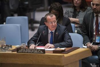 Martin Kobler no Conselho de Segurança, nesta terça-feira, 6 de dezembro. Foto: ONU/Amanda Voisard