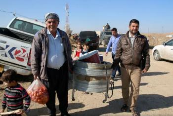 Quase 115 mil pessoas estão deslocadas em Mossul, no Iraque. Foto: PMA/Alexandra Murdoch