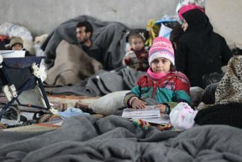 Deslocados sírios buscam abrigo na cidade de Al-Issa. Foto: Unicef/Al-Issa