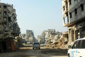 Prédios destruídos em Homs, na Síria. Foto: Unicef/Tiku