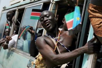 Celebrações da independência do Sudão do Sul em 2011. Foto: ONU/Paul Banks