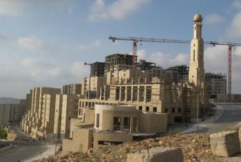 Cidade de Rawabi, na Cisjordânia. Foto: ONU/Eskinder Debebe