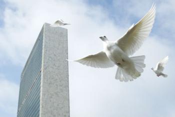 Guterres pede a todos um compromisso com a paz. Foto: ONU/Mark Garten.