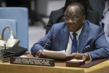 François Louncény Fall nesta quarta-feira no Conselho de Segurança da ONU. Foto: ONU/Manuel Elias
