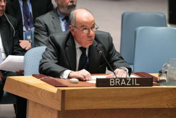 Em debate no Conselho de Segurança, Mauro Vieira, embaixador do Brasil junto à ONU. Foto: ONU/Devra Berkowitz