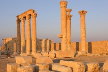 Sítio arqueológico de Palmira, na Síria. Foto: Unesco/F. Bandarin