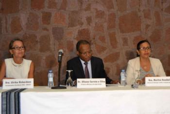 José Ulisses Correia e Silva (centro) em discurso. Foto: Pnud Cabo Verde