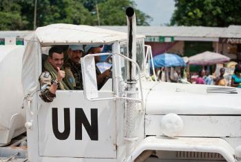 Soldados de paz do contingente de Marrocos, na República Centro-Africana. Foto: ONU/Catianne Tijerina