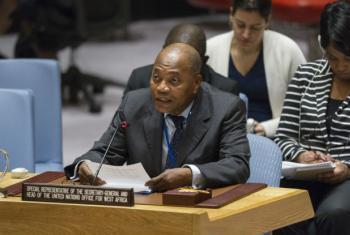 Mohamed Ibn Chambas em discurso no Conselho de Segurança em janeiro de 2017. Foto: ONU/Rick Bajornas