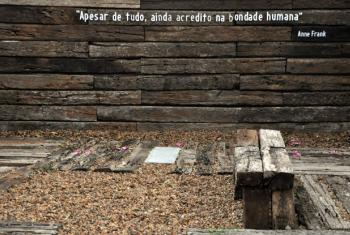Área externa do museu em Curitiba. Foto: Museu do Holocausto.