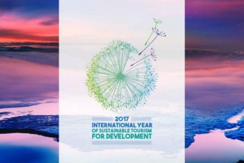 2017 Ano Internacional do Turismo Sustentável para o Desenvolvimento. Imagem: OMT