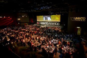 Cerimônia de entrega de prêmios. Foto: OMT