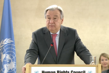 Guterres disse que está determinado a promover a questão dos direitos humanos. Foto: Reprodução.